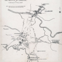 Map of the Battle of Langside 1567